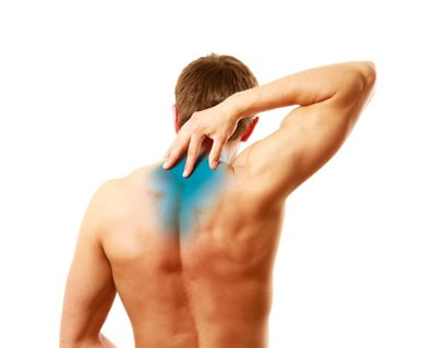 pain between shoulder blades down right arm