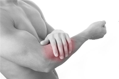 muscle pain in arm below elbow
