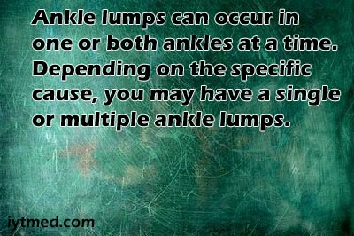 lump on ankle after injury