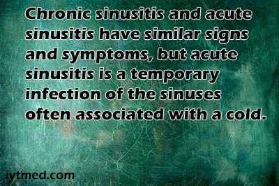 sinusitis symptoms chronic