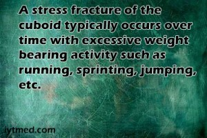 cuboid stress fracture images