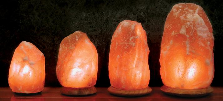 what does a salt rock lamp do