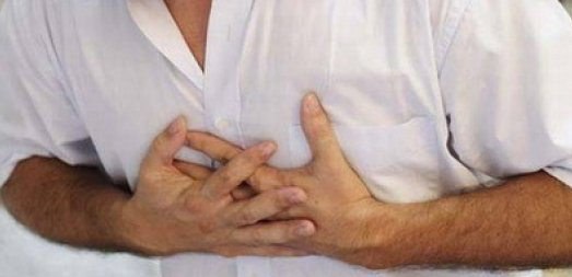 chest pain under left breast comes and goes