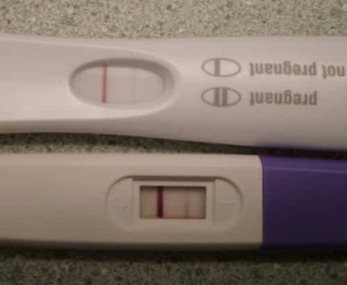 Evaporation lines are common on pregnancy tests, but they don't appear every time. It depends upon the chemical makeup of each woman's urine.