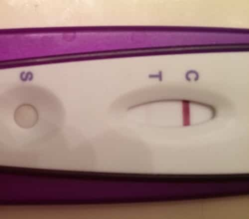 Pink evap line on pregnancy test