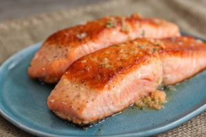 salmon rich in protein