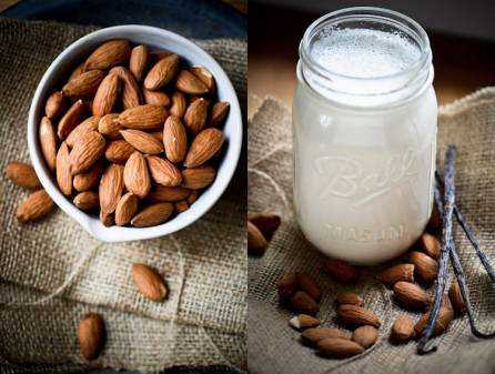 Almond milk typically contains less than 2 percent almonds. The rest of it is water and included vitamins, minerals, sweeteners and thickening agents.