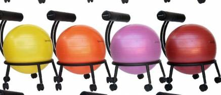 What Health Professionals State About Exercise Balls as Chairs  The medical community, however, is at best inconclusive about the health benefits or disadvantages of using an exercise ball as a workplace chair. I found two case studies of patients with low back pain whose conditions improved after consistently using the gym ball, but, on the other hand, The New York Times reports that insurance claims of exercise balls enhancing position are likewise doing not have in evidence (and drawbacks regarding spine shrinking might offset the increased muscle activity).