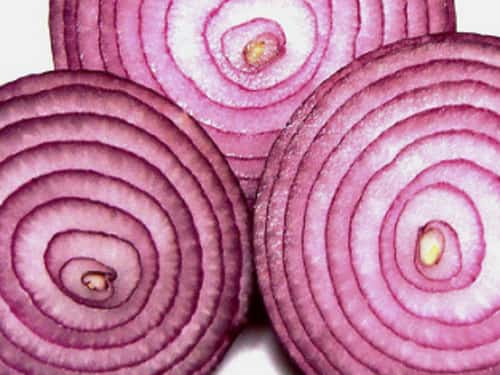 Onion has quercetin which eradicates mucus and also prevents further build-up of mucus.