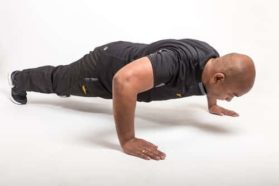 "In the standard pushup, the following muscles are targeted: chest muscles, or pectorals, shoulders, or deltoids, back of your arms, or triceps, abdominals, the ""wing"" muscles directly under your armpit, called the serratus anterior."