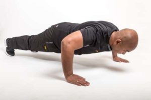 """In the standard pushup, the following muscles are targeted: chest muscles, or pectorals, shoulders, or deltoids, back of your arms, or triceps, abdominals, the """"wing"""" muscles directly under your armpit, called the serratus anterior."""