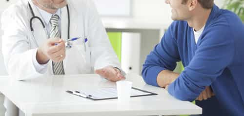Man with Hyperprolactinaemia visiting doctor