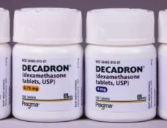 Decadron (dexamethasone) shot used to fight with sinusitis